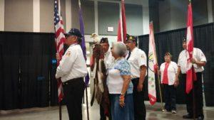 Seneca Nation veterans leads the morning color guard