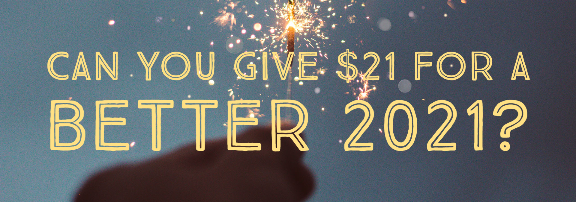 Can you give $21 for a better 2021?